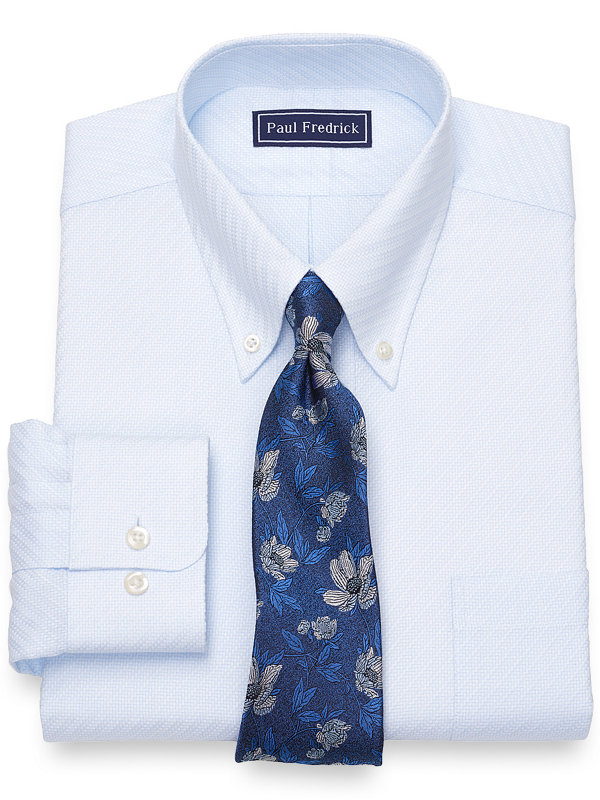 Slim Fit Pure Cotton Broadcloth Solid Twill Color Dress Shirt