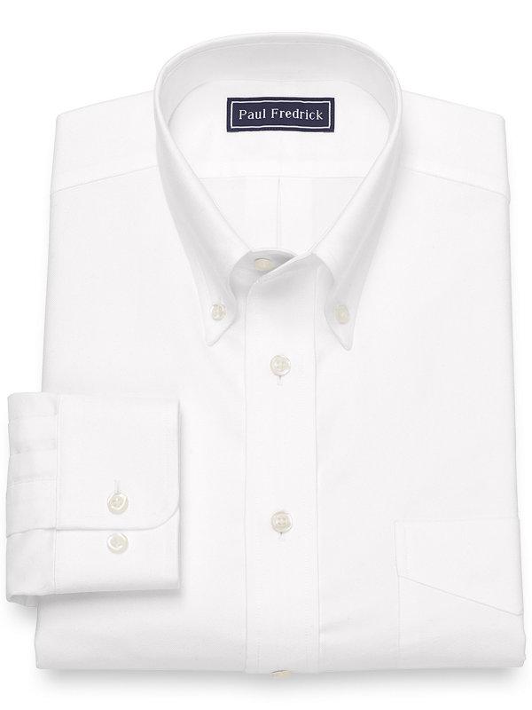 Pure Cotton Oxford Solid Color Dress Shirt