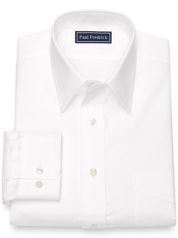 Slim Fit Pure Cotton Oxford Solid Color Dress Shirt