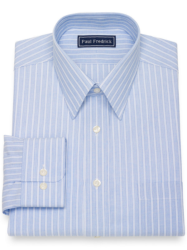Slim Fit Pure Cotton Broadcloth Shadow Stripe Dress Shirt