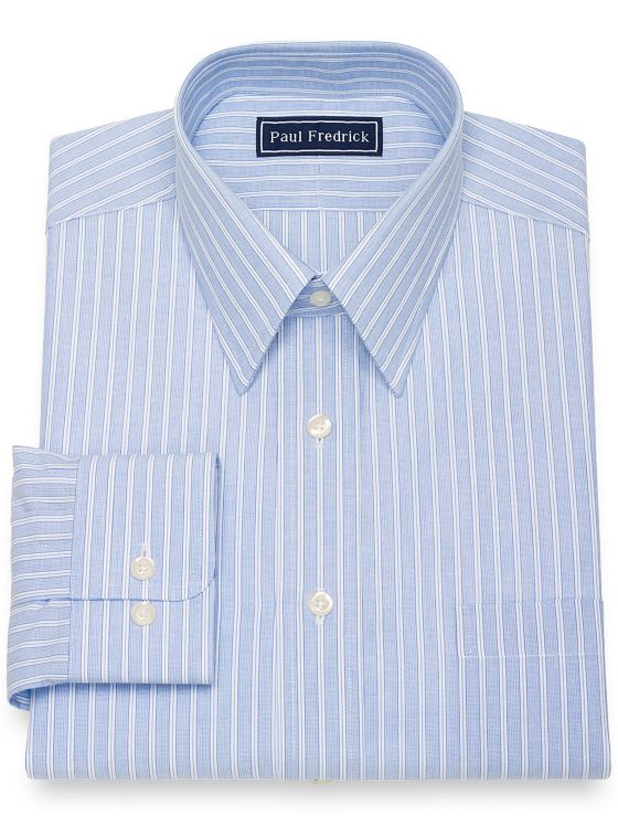Slim Fit Pure Cotton Broadcloth Shadow Stripe Dress Shirt