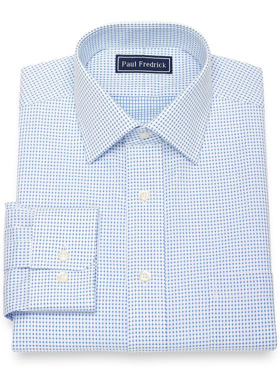 Pure Cotton Broadcloth Dot Pattern Dress Shirt