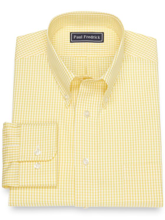 Pure Cotton Broadcloth Gingham Dress Shirt