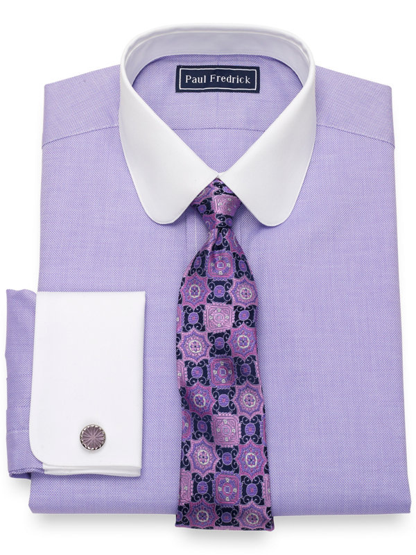 Pure Cotton Broadcloth Textured Pattern Dress Shirt