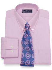 Slim Fit Pure Cotton Broadcloth Mini Check Dress Shirt