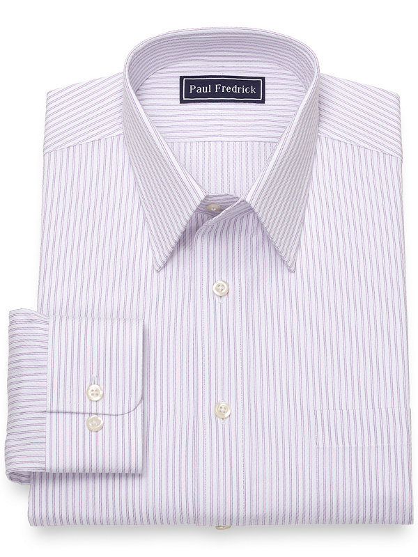 Pure Cotton Broadcloth Twin Stripe Dress Shirt