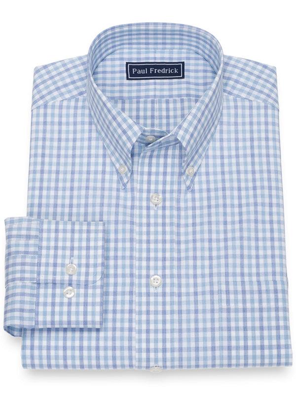 Slim Fit Pure Cotton Broadcloth Check Dress Shirt