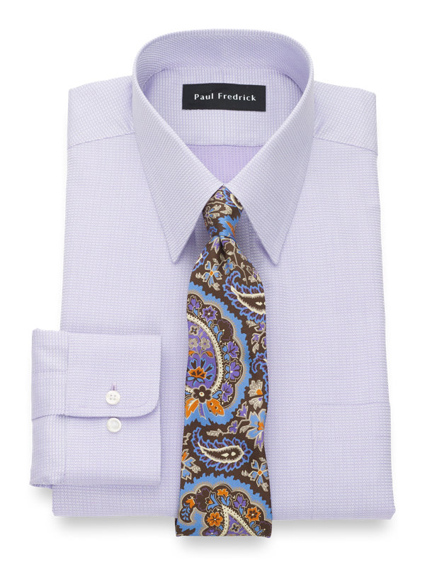 Pure Cotton Solid Button Cuff Dress Shirt