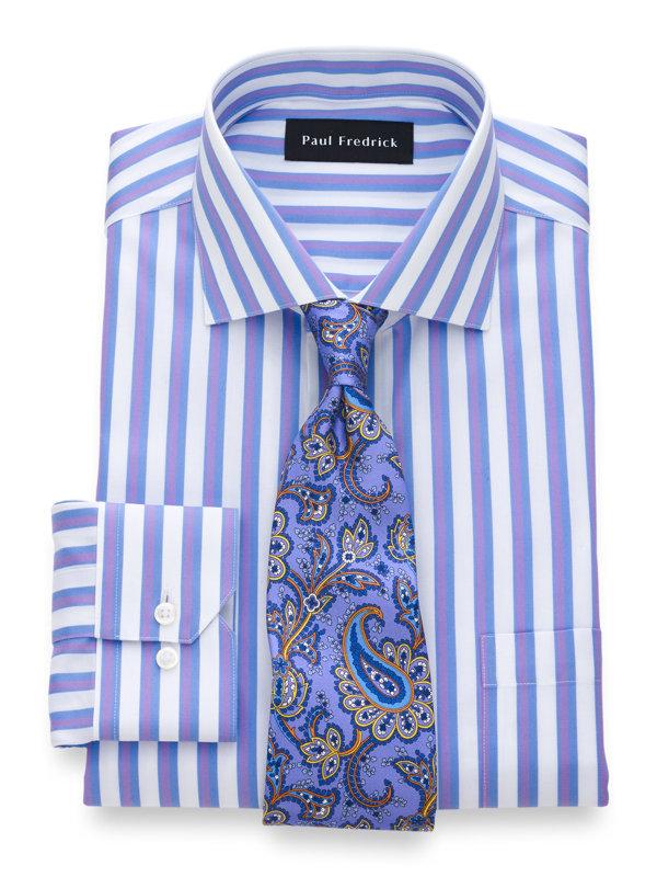 Non-Iron Supima Cotton Satin Stripe Dress Shirt