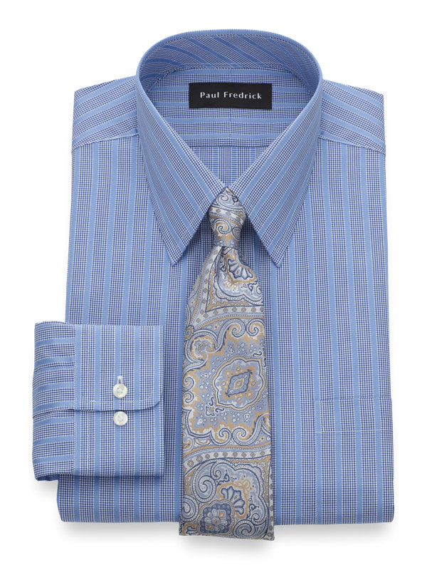 Pure Cotton Satin Stripe Button Cuff Dress Shirt