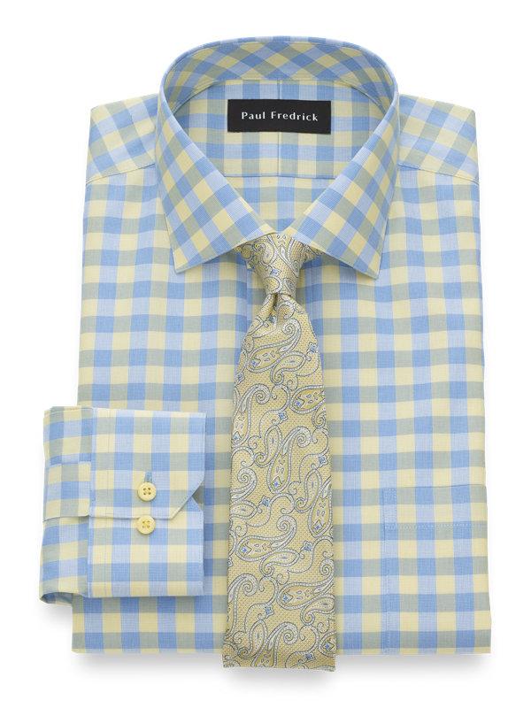 Impeccable Non-Iron Cotton Gingham Dress Shirt