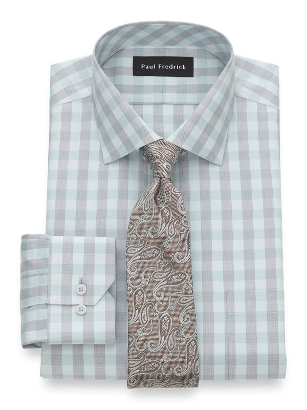 Slim Fit Impeccable Non-Iron Cotton Gingham Dress Shirt