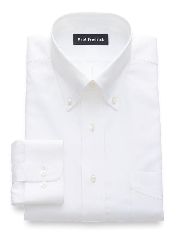 Slim Fit Non-Iron Cotton Silk Solid Dress Shirt