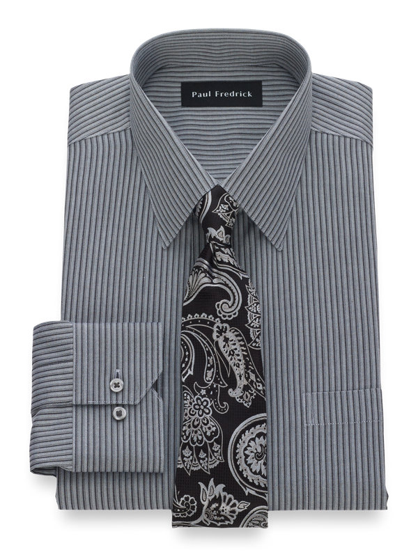 Slim Fit Non-Iron Cotton Twill Dress Shirt
