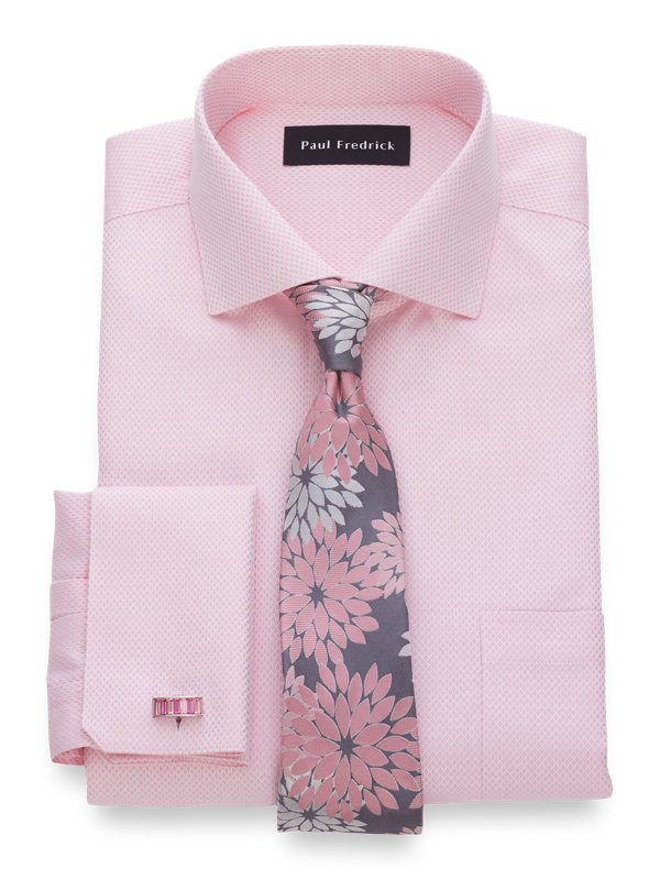 Non-Iron Cotton Diamond Pattern Dress Shirt