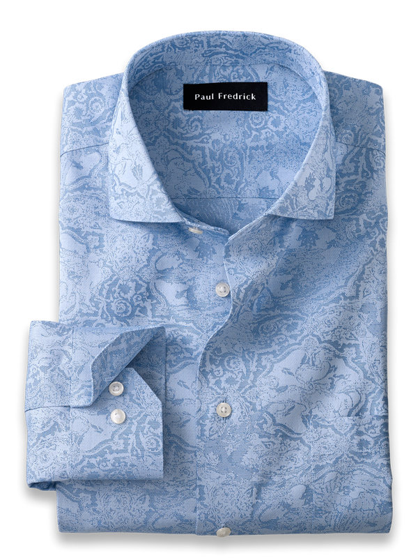 Tailored Fit Non-Iron Cotton Tapestry Dress Shirt