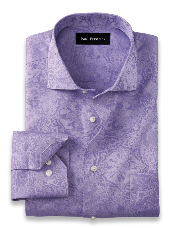 Slim Fit Non-Iron Cotton Tapestry Dress Shirt