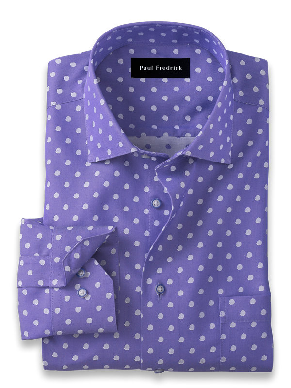 Non-Iron Cotton Dot Dress Shirt