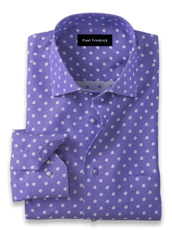 Tailored Fit Non-Iron Cotton Dot Dress Shirt