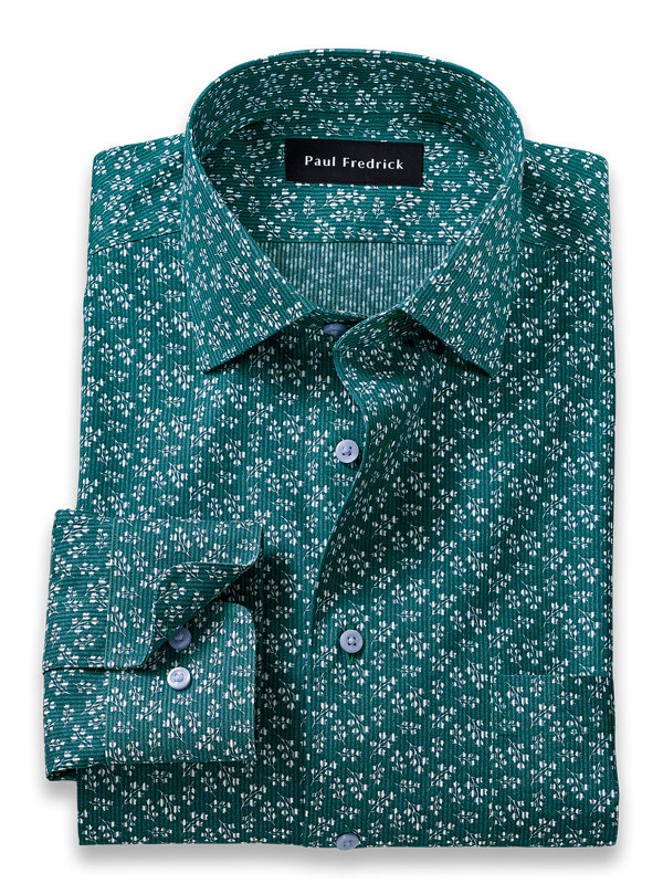Tailored Fit Non-Iron Floral Print Dress Shirt