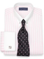 Cotton Stripe Dress Shirt