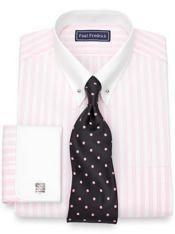 Slim Fit Cotton Stripe Dress Shirt