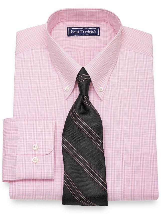 Cotton Glen Plaid Dress Shirt