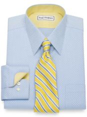Non-Iron Cotton Diamond Pattern Dress Shirt