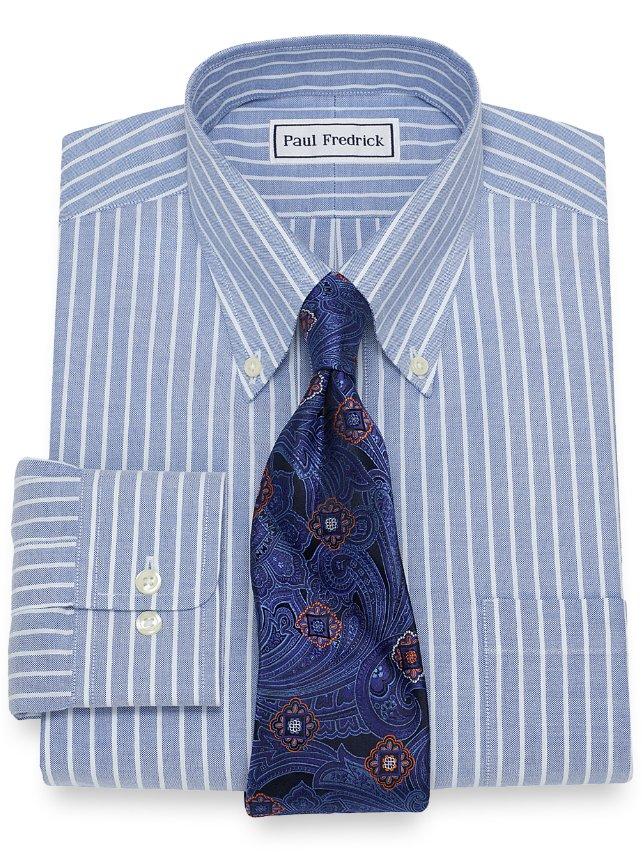 Non-Iron Supima Cotton Textured Stripe Dress Shirt