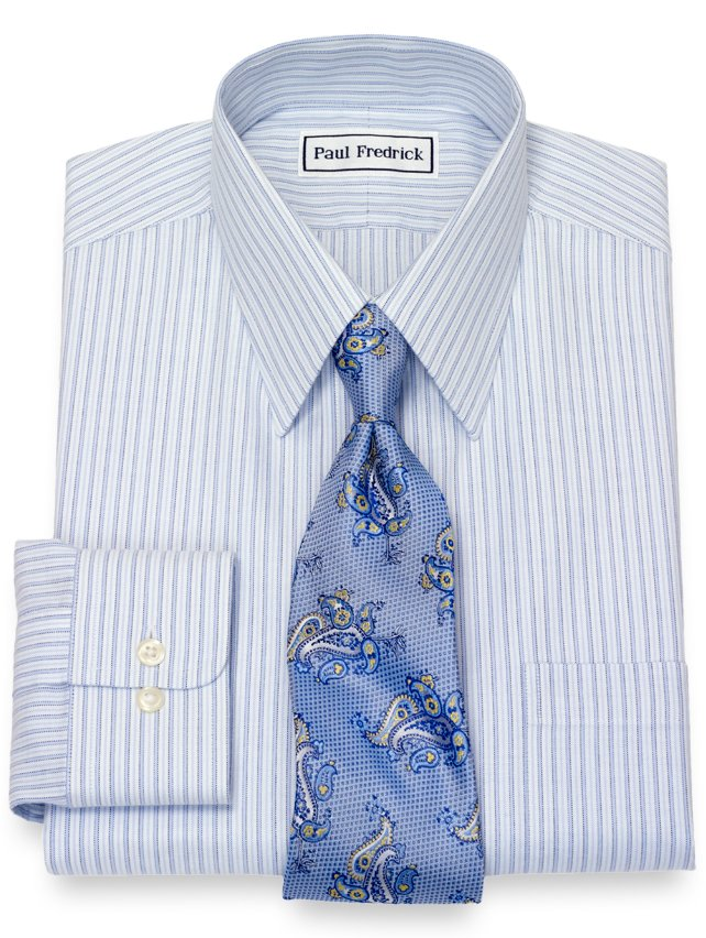 Non-Iron Supima Cotton Stripe Dress Shirt