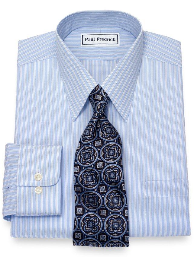 Non-Iron Cotton Tread Stripe Dress Shirt