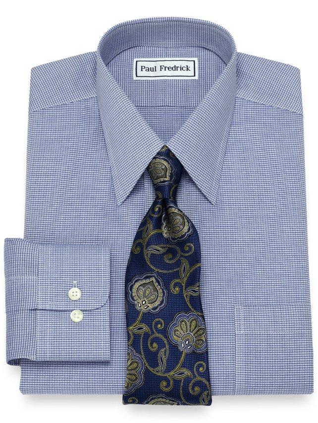 Non-Iron Cotton Mini Twill Check Dress Shirt