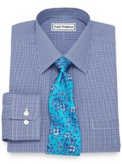 Non-Iron Cotton Mini Gingham Dress Shirt
