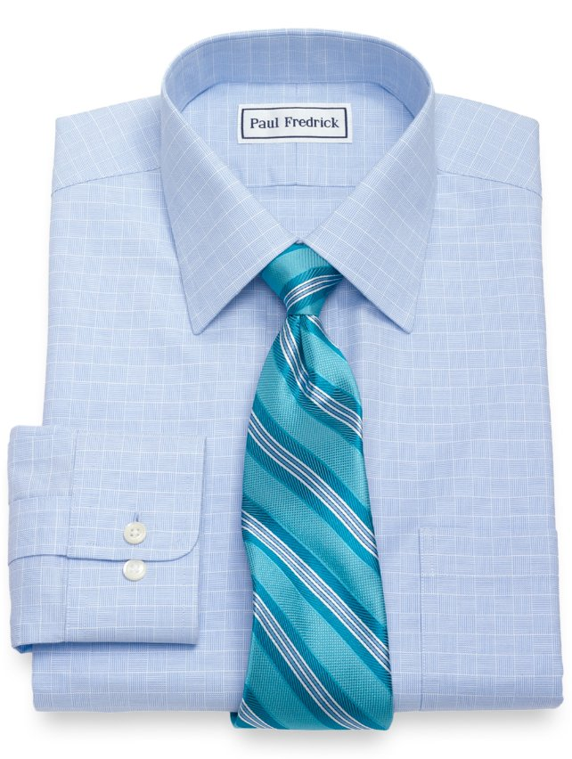 Non-Iron Supima Cotton Plaid Dress Shirt