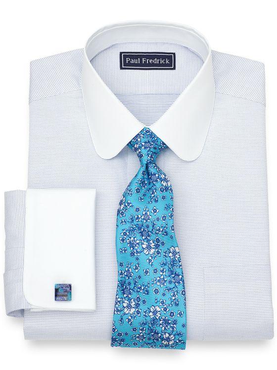 Cotton Textured Dot Dress Shirt