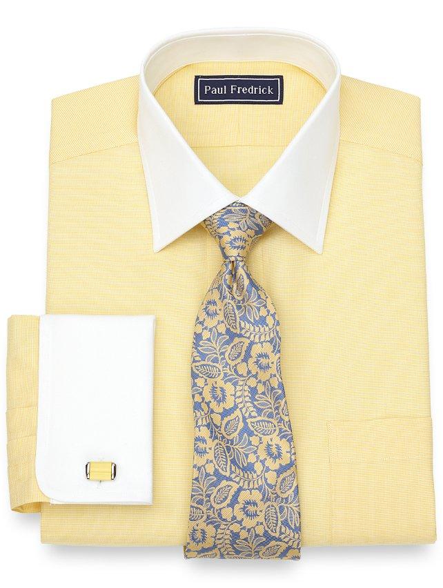 Slim Fit Cotton Solid Dress Shirt