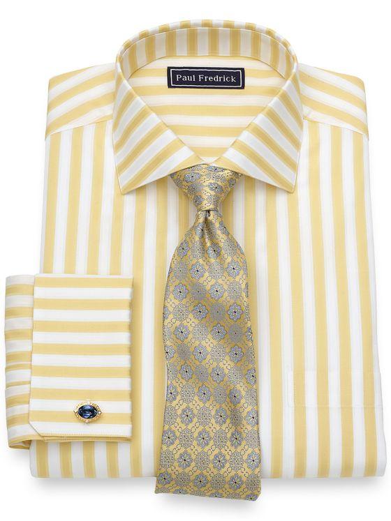 Cotton Bold Stripe Dress Shirt