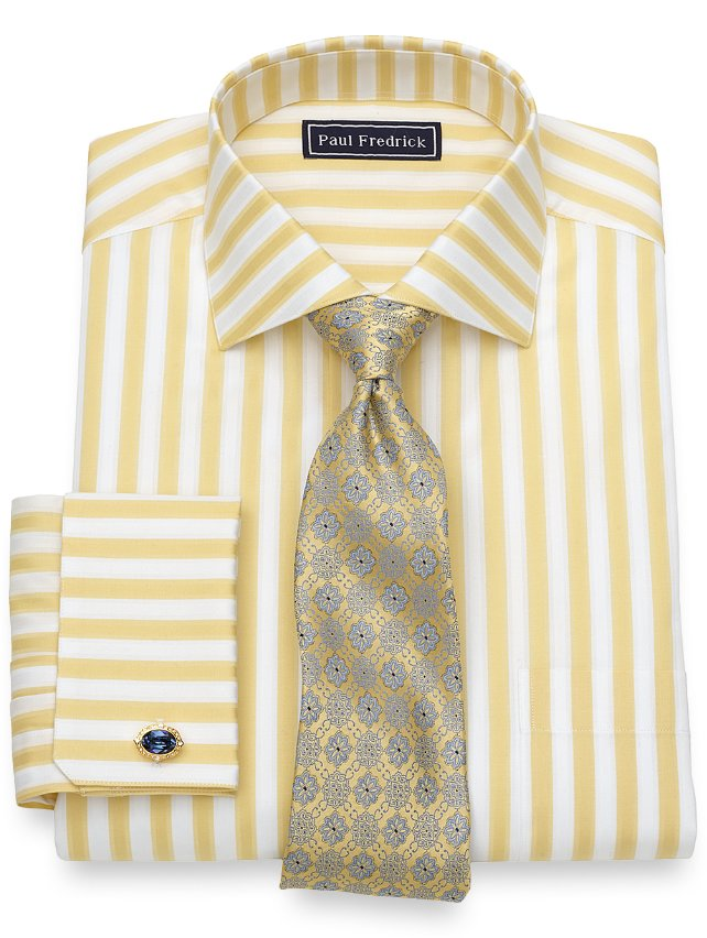 Slim Fit Cotton Bold Stripe Dress Shirt
