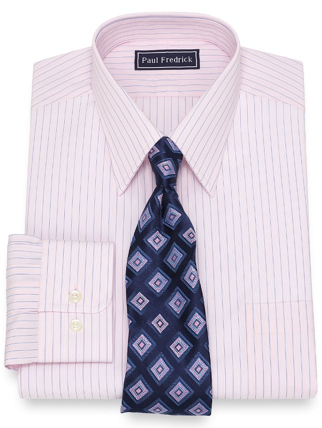 Cotton Stripe Dress Shirt