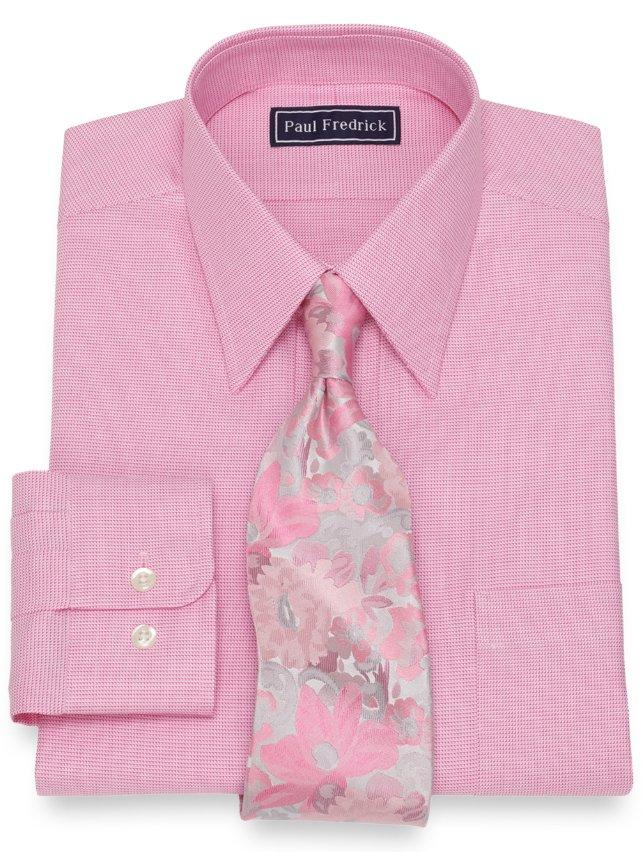Slim Fit Cotton Textured Pattern Dress Shirt