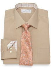 Non-Iron Cotton Solid Pinpoint Dress Shirt