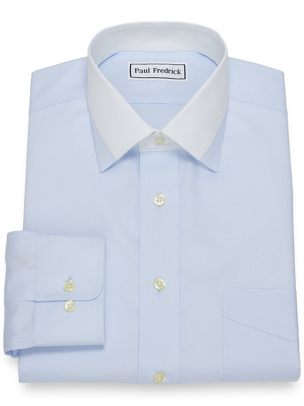 Non-Iron Cotton Solid Dress Shirt