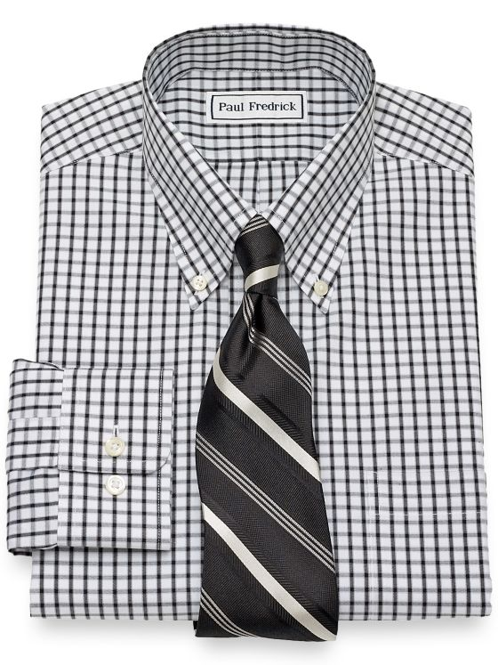 Non-Iron Cotton Check Dress Shirt