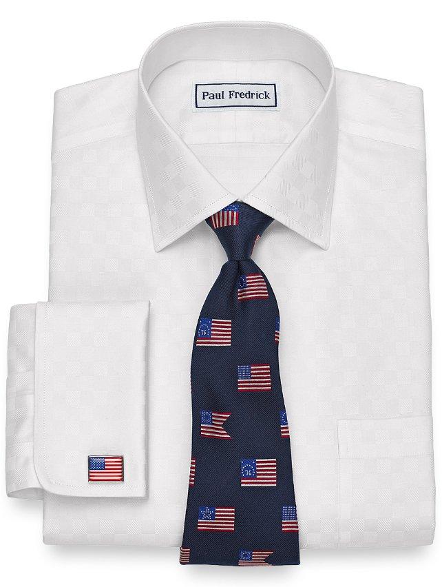 Non-Iron Cotton Twill Squares Dress Shirt
