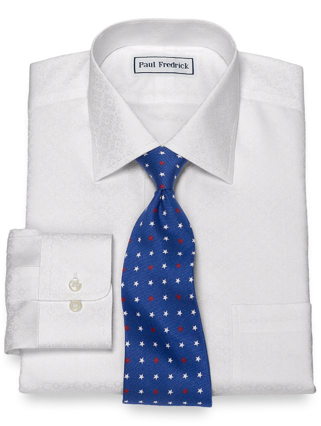 Slim Fit Non-Iron Cotton Medallion Dress Shirt
