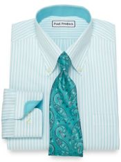 Non-Iron Cotton Twin Stripe Dress Shirt