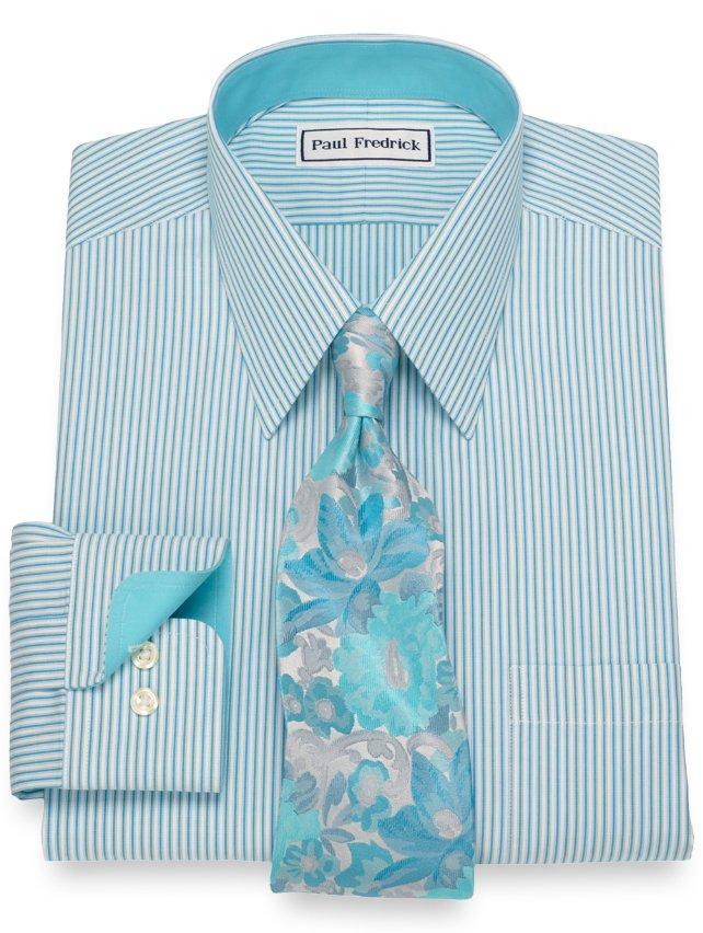 Non-Iron Cotton Shadow Stripes Dress Shirt