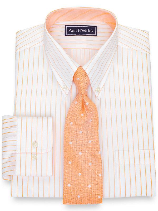 Slim Fit Pure Cotton Stripe Dress Shirt with Contrast Trim