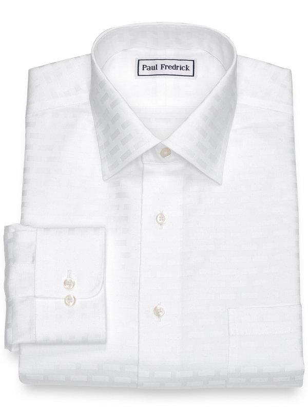 Non-Iron Pure Cotton Brick Pattern Dress Shirt
