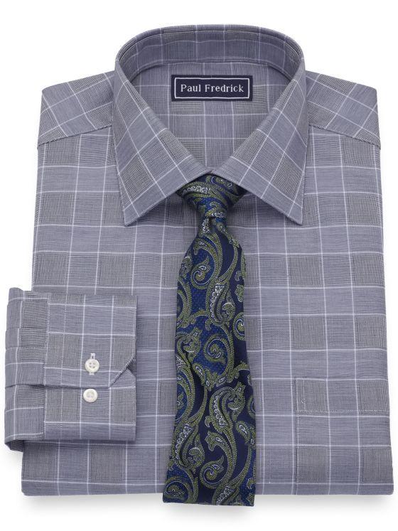 Pure Cotton Glen Plaid Dress Shirt